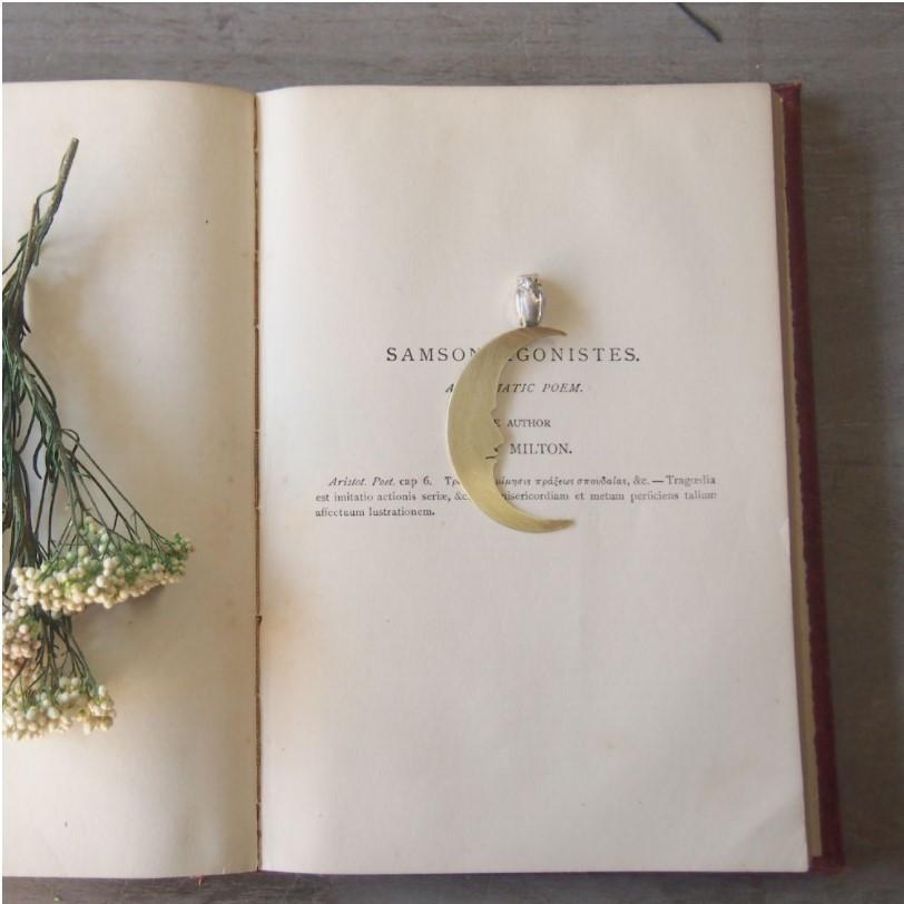 sasakihitomi アクセサリー作家・佐々木ひとみ ブックマーク 真鍮&シルバー