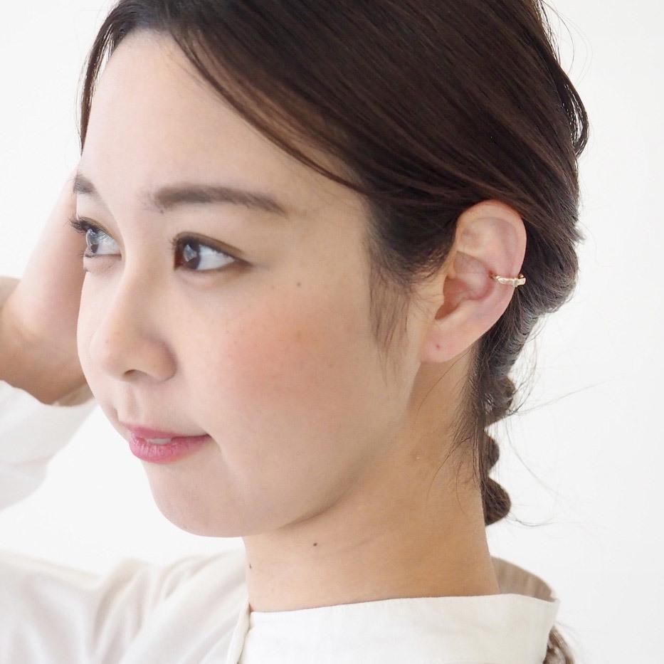 【2種類から選べます】small right(スモールライト) 手作りアクセサリーベルトイヤーカフ cute 2.5mmピンクゴールド 片耳